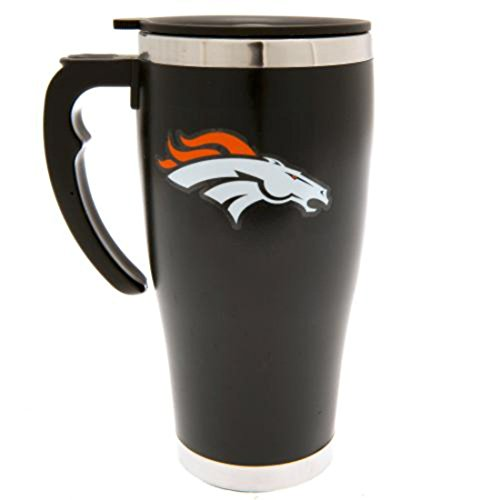 Forever Collectibles NFL Football Denver Broncos Travel Mug Thermotasse Kaffeetasse Tasse