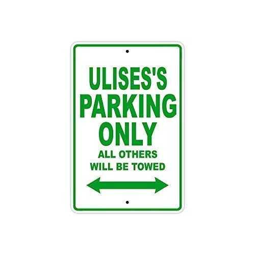Señal de metal de aluminio Montrwie Hazard Labels de 30,5 x 40,6 cm, Ulises Parking Only All Others Will Be Towed Look Metal Sign Home House Coffee Beer Bar Decor