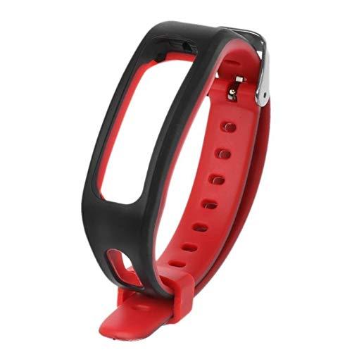 XCHJY Reemplazo de Silicona Inteligente Tipo Reloj Correa for Huawei Honor Band 4 Ejecución de la versión de Smart Muñequera (Color : Red)