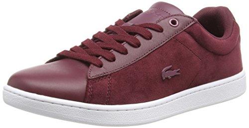 Lacoste Sport Damen Carnaby Evo 318 8 SPW Sneaker, Rot (Burg/Wht 2h2), 37 EU