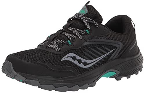 Saucony Women's Excursion TR15 Trail Running Shoe, Black/Jade, 8