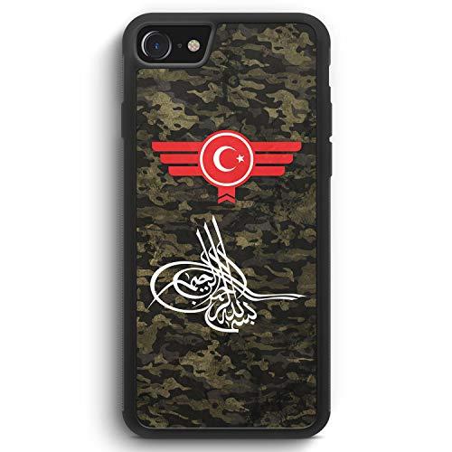 Osmanli Tugrasi Türkiye Türkei Camouflage - Silikon Hülle für iPhone 8 - Motiv Design Militär Military - Cover Handyhülle Schutzhülle Hülle Schale