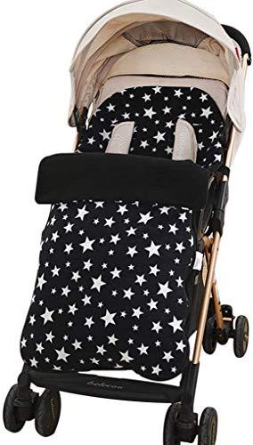 DYHF Fußsack Universal-Kinderwagen Cosytoes Liner Soft-Polar Fleece für Kinderwagen, Kinderwagen, Kinderwagen und Buggy Winter-Baby Fußsack Kleinkind Warm-Spaziergänger-Schlafsack Black