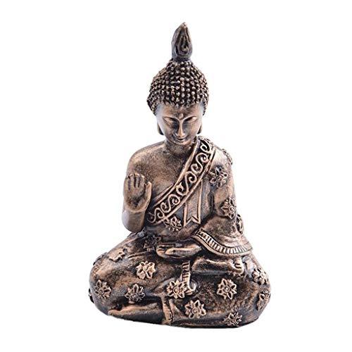 JPVGIA Estatua de Buda de Resina Jardín de Resina Buda Estatua de Buda Retro Meditando Estatua de Buda Ornamento de jardín India Sakyamuni Estatuilla