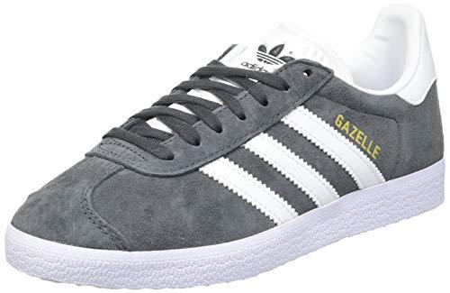 adidas Gazelle, Baskets Homme, Solid Grey/White/Gold Metallic, 42 2/3 EU