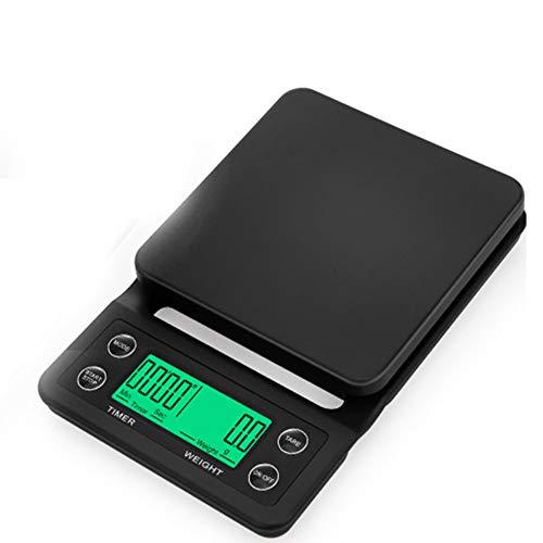 ZYJ Échelle du café minuterie électronique Mini Balance Portable, écran LCD numérique précis ménage de la Cuisine à l'échelle des ménages Alimentaire,B