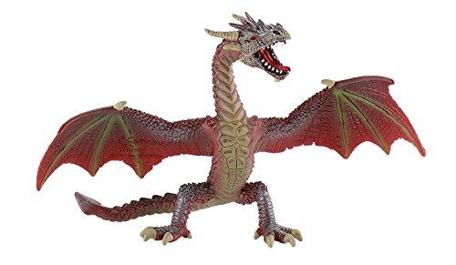 Bullyland 75591 - Spielfigur, fliegender Drache rot, ca. 17,8 cm groß, liebevoll handbemalte Figur, PVC-frei, tolles Geschenk für Jungen und Mädchen zum fantasievollen Spielen
