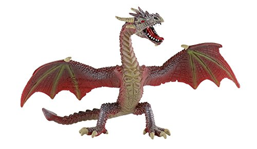 Desconocido Bullyland 75591 - Flying Dragon, Rojo-marrón [Importado de Alemania]