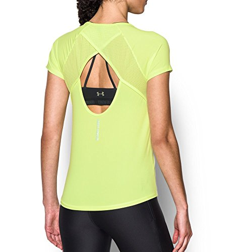 Under Armour Women's Fly by Short Sleeve Tee, Pale Moonlight, X-Large