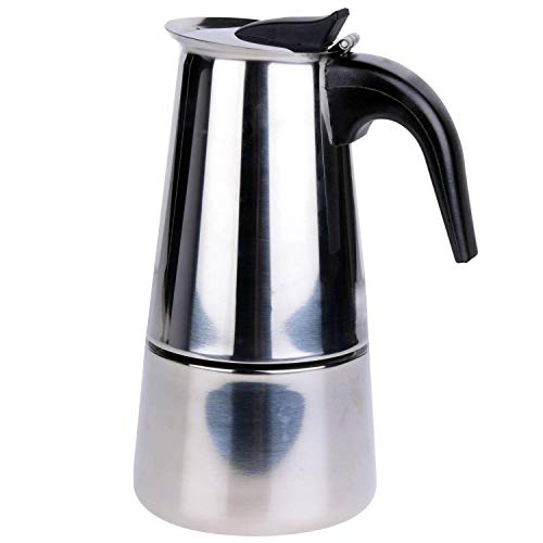 Voche? 6 Cup Milan Style Stainless Steel Espresso Coffee Maker Stove Top Percolator