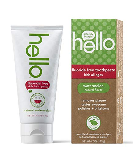 Hello Oral Care Kids Fluoride Free and SLS Free Toothpaste Natural Watermelon 42 Ounce