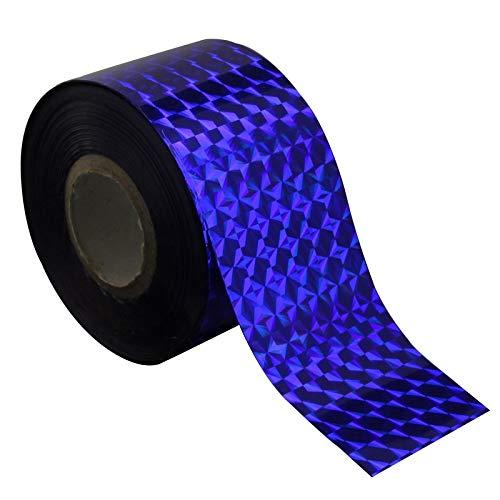 D'Ongle Autocollants Transfert 120m * 4 cm Couleur Bleu Profond Nail Transfer Foil Holographique Verre Brisé Design Nail Art Décoration Bijoux Accessoires