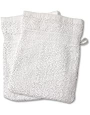 Lote de 2 Manoplas de baño Uni Blanco 450gr/m2