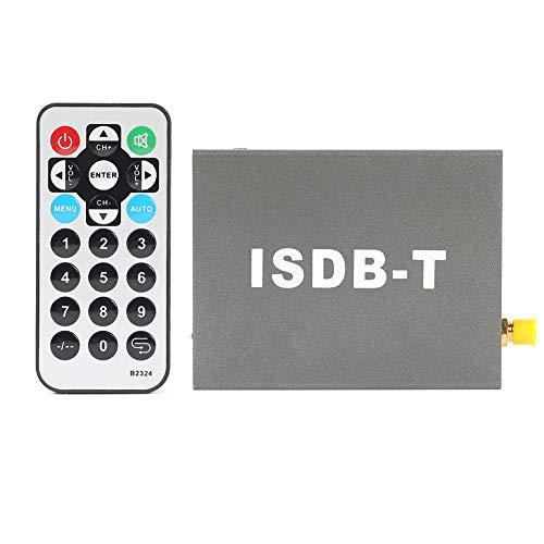 SoeHong Caja de TV analógica para coche SSDB-T Definición estándar 1 Seg Digital TV Receptor Box con antena de control remoto para Sudamericana