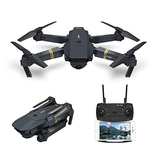 Drone With Camera Live Video, EACHINE E58 WIFI FPV Quadcopter With 120° Wide-angle 720P HD Camera Foldable Drone RTF - Altitude Hold, One Key Take Off/Landing, 3D Flip, APP Control, Gravity sensor