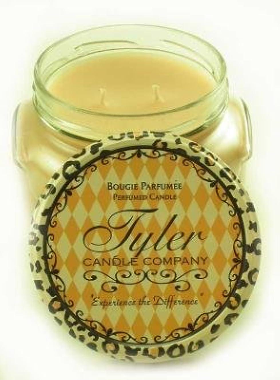 クローンレポートを書くピルEntitled Tyler 11オンス香りつき2-wick Jar Candle
