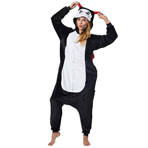 Katara-Kigurumi (2 Modelos) Pijamas Disfraz Halloween Adultos Unisex Talla 165-175cm, color diablo, (L) (1744)