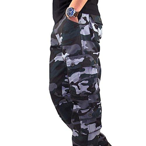 FRAUIT Tarnung Hose Herren Männer Herbst Winter Taschen Sport Hosen beiläufige Overall Long Pants Herren Casual Herbst Winter Baumwolle Hip Hop Sporthose Jogger Cargo Hose Jeans Pants