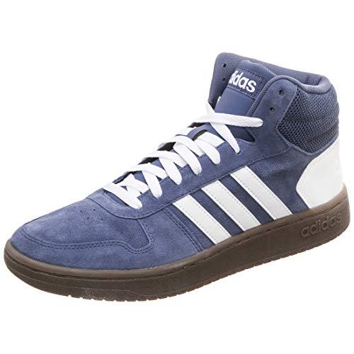 adidas Hoops 2.0 Mid, Zapatillas Altas para Hombre, Azul (Tech Ink/Footwear White/Footwear White 0), 43 1/3 EU
