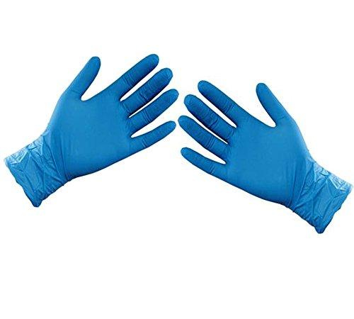 ASC Bleu nitrile Gants jetables–Taille XL–Poudre et sans latex Gants–100(50paires)