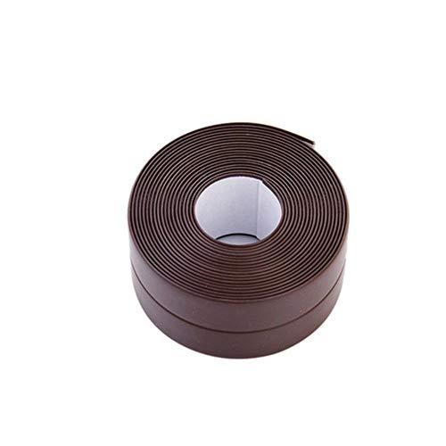 1 PVC-Material Küche Bad Wanddichtungsband Wasserdichtes, formbeständiges Klebeband 3,2 mx 2,2 cm, Braun, China
