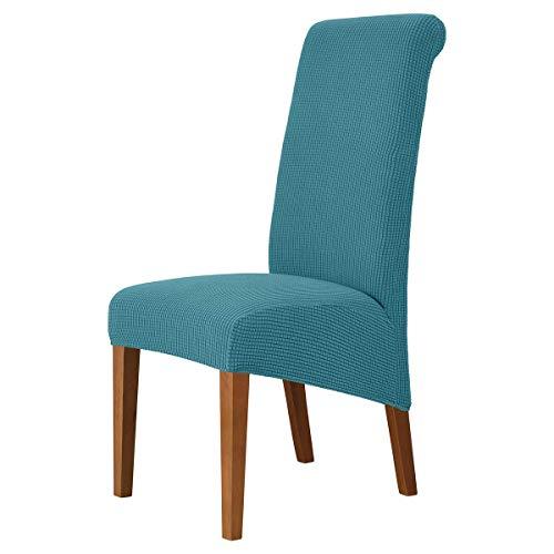 XBSXP Esszimmerstuhlbezüge, Dehnbare elastische Stuhlbezüge aus Crushed Velvet, Stuhlbezug mit hoher Rückenlehne,...
