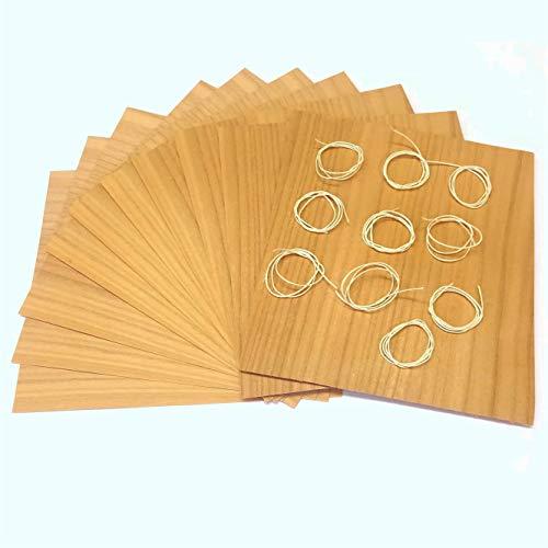 Masterpiece - BBQ Grillpapier Kirsche Set à 10 STK. Wood Wraps Grillfurnier in Premium Qualität Räucherfurnier Wood Paper Maße: 190 x 170 mm Wood Paper