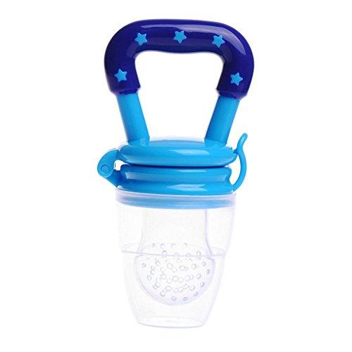 Alimentador para bebés de silicona, suave y seguro, para darle alimentos frescos azul azul Talla:M