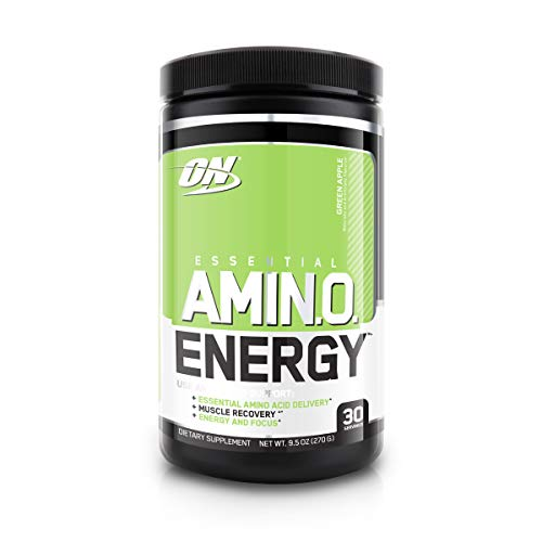 Optimum Nutrition Amino Energy - Pre Workout with Green Tea, BCAA, Amino Acids, Keto Friendly, Green Coffee Extract, Energy Powder - Green Apple, 30 Servings