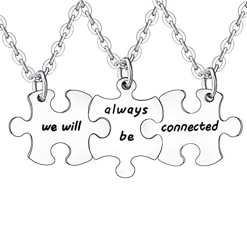 BESPMOSP 3PCs Friendship Gifts We Will Always Be Connected Matching...