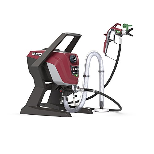 Titan ControlMax 1500 0580005 High Efficiency Airless Paint Sprayer, HEA technology decreases overspray by up to 55% while delivering softer spray providing a consistent spray pattern