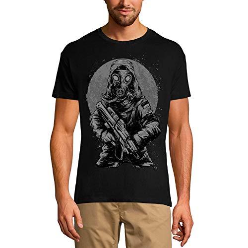 Ultrabasic Herren Grafik T-Shirt Galaxy Soldat Gasmask - Lustiges Shirt für Männer - Schwarz - Klein