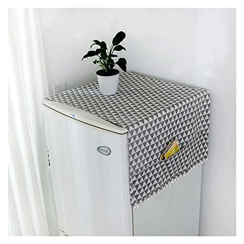 YSJJWDV Cubierta Polvo Lavadora Dibujos Animados de algodón geométrico Lino Cubiertas de Polvo Lavadora Cubiertas refrigerador Organizador Nevera Cubierta de Polvo decoración del hogar