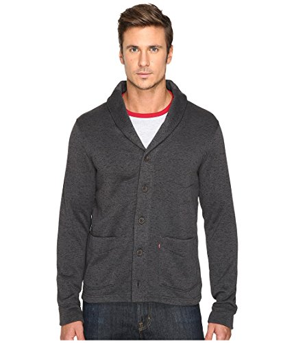 Levi's Men's Rand Sweater Knit Fleece Cardigan, Caviar, X-Large