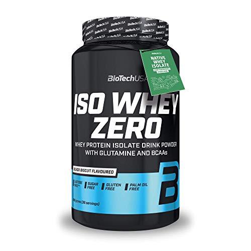 BioTechUSA Iso Whey Zero, aislado puro de proteína de suero, 908 g, Black biscuit