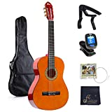 39 Inches Classical Guitar Full Size Beginner Acoustic with...