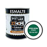 Pintura color Verde Hierba Interior / Exterior / Multisuperfie para azulejos baño cocina , madera, puertas, metal, radiadores, muebles, ceramica / Esmalte sintentico en 375 ml / RAL 6016