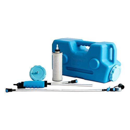 AquaBrick Portable Water Purification System, Portable Water Filter for Camping, Best Survival Water Purifier, Purifies Tap Water for Everyday Use, Removes Bacteria, Viruses, Protozoan, Lead