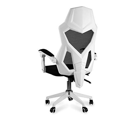 WZYJ Silla de la computadora Silla de Oficina en casa cómodo Juego sillón Jefe por Internet Cafe ergonomía con el reposapiés Silla de la computadora,Blanco,Without