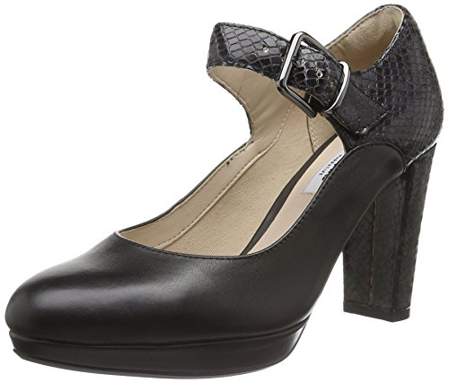 Clarks Damen Kendra Gaby Pumps, Schwarz (Black Leather), 41 EU