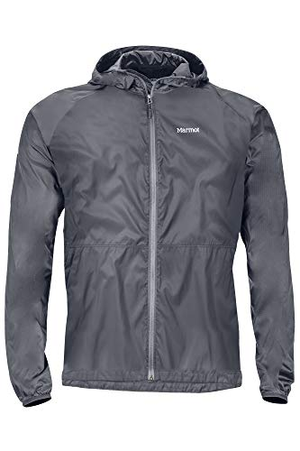Marmot Trail Wind Hoody Imperméable, Veste de Pluie Homme, Hardshell, Coupe Vent, Respirant, Steel Onyx, FR (Taille Fabricant : XL)