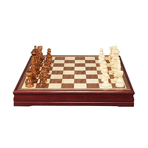 W.Z.H.H.H Tablero de ajedrez Ajedrez Patrones Piezas de ajedrez Mesa de café de Madera Tablero de ajedrez Profesional Juego Juego de ajedrez Juego Tradicional