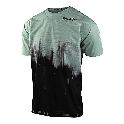 Troy Lee Designs Skyline Diffuze T-shirt per biciclette giovanili Nero/Verde M