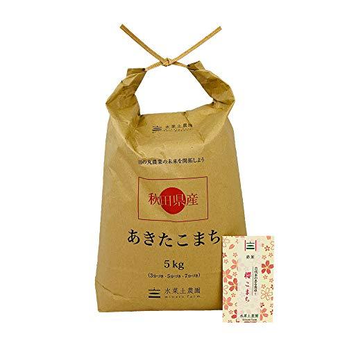 【おまけ付き】秋田県産 農家直送 あきたこまち 精米5kg 令和元年産 / 古代米お試し袋付き