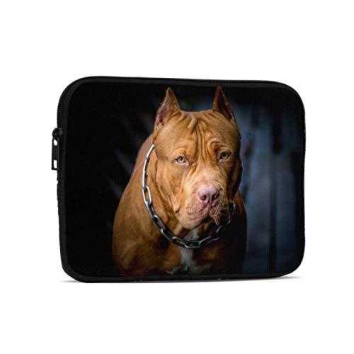 Funda de Transporte para portátil American Pit Bull Terrier Funda Impermeable Compatible con iPad 7,9/9,7 Pulgadas Funda Protectora de Neopreno a Prueba de Golpes con Cremallera y asa