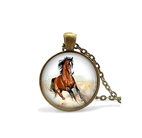 Bronze Mustang Pferd Halskette, Pferd Schmuck, Mustang Halskette, Pferd Halskette, Braun Pferd, Horse Rider,