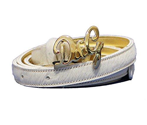 D&G Cintura donna Asta dritta Cavallino DC0384E11F col. Panna tg. 100 cm
