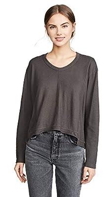 Wilt Women's Big Seam Shifted Sweatshirt, Dark Shadow, Grey, Medium