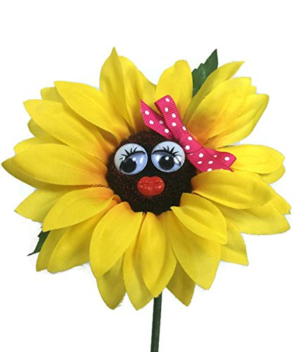 Käfer Blume, Sonnenblume mit rosa Schleife