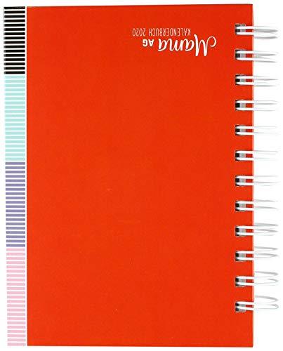 Mama AG Familienplaner Buch A6. Taschenkalender 2020. Wochenkalendarium. Spiralbindung. Format 11,6 x 16,3 cm